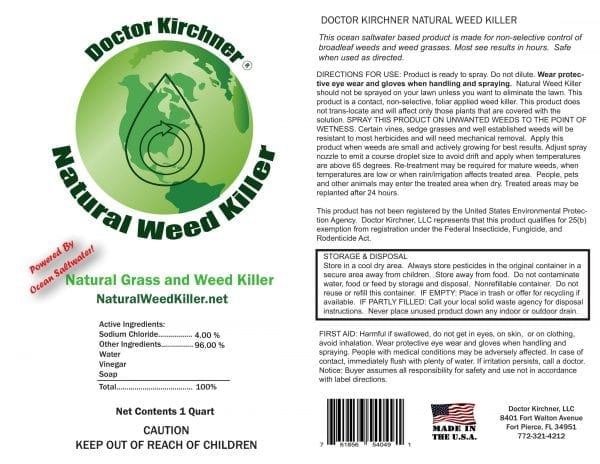 Doctor Kirchner Natural Weed Killer
