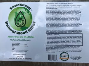 Doctor Kirchner Natural Weed Killer ECO-Pour - 1 Gallon Size Label